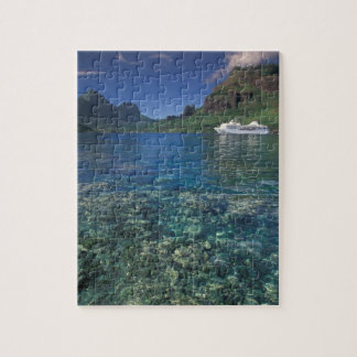 French Polynesia, Moorea. Cooks Bay. Cruise ship Jigsaw Puzzle