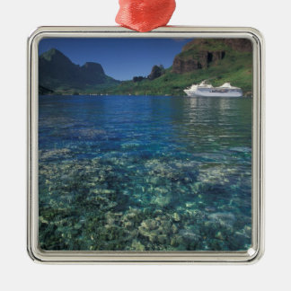 French Polynesia, Moorea. Cooks Bay. Cruise ship Metal Ornament