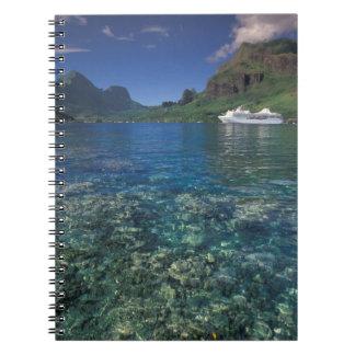 French Polynesia, Moorea. Cooks Bay. Cruise ship Notebook
