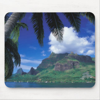 French Polynesia, Moorea. Cooks Bay. Green Mouse Pad