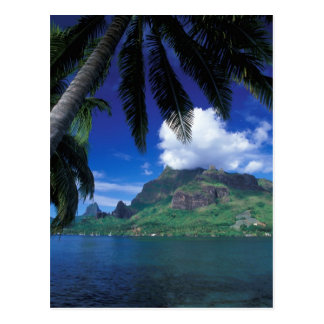French Polynesia, Moorea. Cooks Bay. Green Postcard