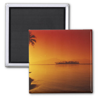 FRENCH POLYNESIA, Moorea. Sunset. Magnet