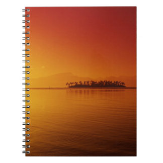 FRENCH POLYNESIA, Moorea. Sunset. Spiral Notebook