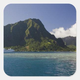 French Polynesia, Moorea. The Paul Gauguin Square Sticker