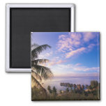 French Polynesia, Moorea. View of the Baie de 2 Inch Square Magnet