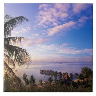 French Polynesia, Moorea. View of the Baie de Ceramic Tile