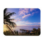 French Polynesia, Moorea. View of the Baie de Rectangle Magnet