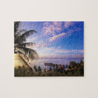 French Polynesia, Moorea. View of the Baie de Puzzle