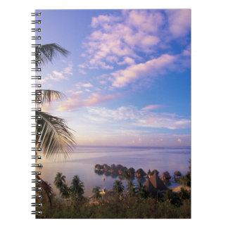 French Polynesia, Moorea. View of the Baie de Spiral Notebook
