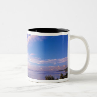 French Polynesia, Moorea. View of the Baie de Two-Tone Coffee Mug