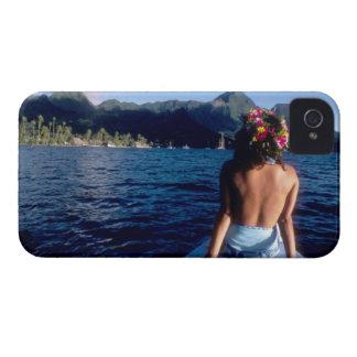 French Polynesia Moorea Woman enjoying view on Blackberry Bold Covers