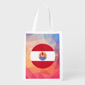 French Polynesia Souvenir Reusable Grocery Bag