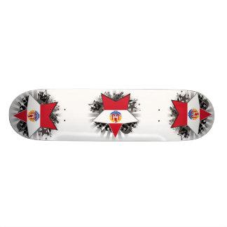 French Polynesia Star Skate Deck