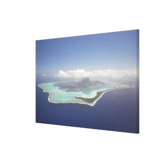 French Polynesia, Tahiti, Bora Bora. The Canvas Print