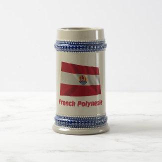 French Polynesia Waving Flag with Name Mug