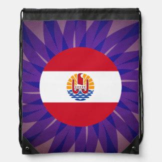 French+Polynesian Flag Souvenir Cinch Bags
