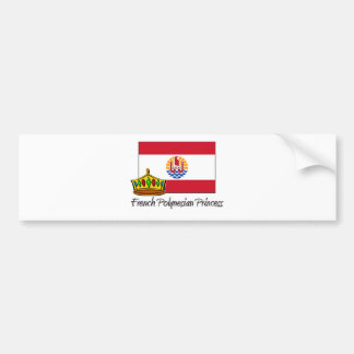 French Polynesian Princess Bumper Sticker