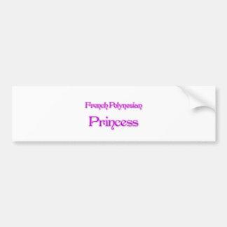 French Polynesian Princess Bumper Stickers