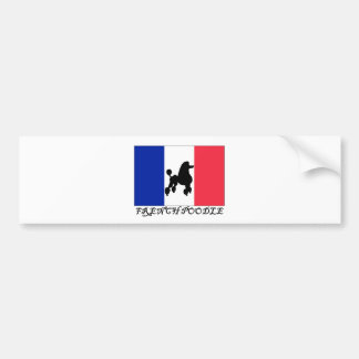 French Poodle Bumper Sticker