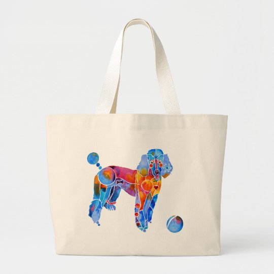 French Poodle Canvas Tote Bag
