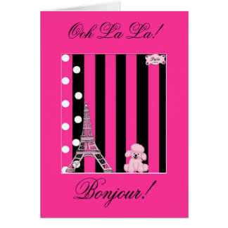 French Poodle Greeting Cards