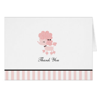 French Poodle Custom Folded Thank You Cards