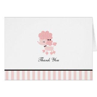 French Poodle Custom Folded Thank You Cards