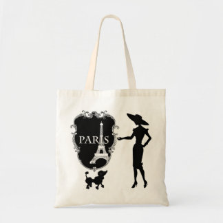 French Poodle fashion design Tote Bag