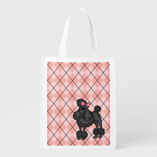 French Poodle Reusable Grocery Bag