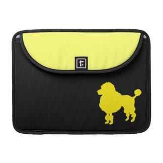French poodle silhouette sleeves for MacBook pro