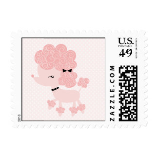 French Poodle Stamp