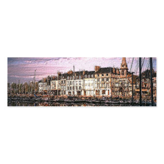 French Port Photo Painting Double-Sided Mini Business Cards (Pack Of 20)