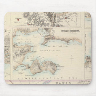 French Portsand Harbours and Plan of Paris Mousepads