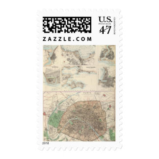 French Portsand Harbours and Plan of Paris Postage