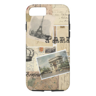 French Postcard Collage iPhone 8/7 Case