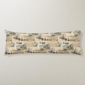 French Postcard Paris Body Pillow