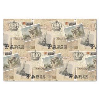 "French Postcard Paris Tissue Paper 10"" X 15"" Tissue Paper"