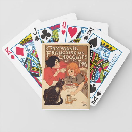French Poster set of playing cards