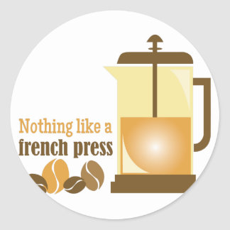 French Press Classic Round Sticker