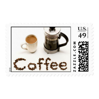 French Press Coffee  Postage Stamps