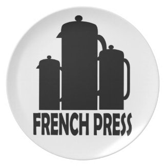 French Press Dinner Plate