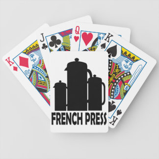 French Press Bicycle Playing Cards