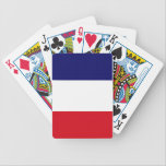 "French pride! bicycle playing cards<br><div class=""desc"">French pride! Featuring the flag of France.</div>"