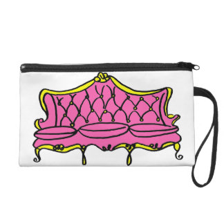 French Princess Couch Illustration Wristlet