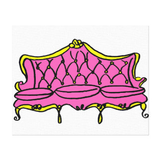 French Princess Couch Stretched Canvas Print