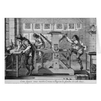 French printing press, 1642 card