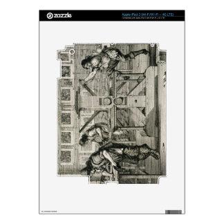 French printing press, 1642 (engraving) iPad 3 skin