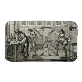 French printing press, 1642 (engraving) iPhone 3 cover