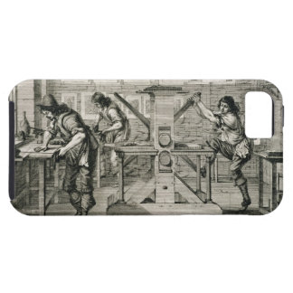 French printing press, 1642 (engraving) iPhone SE/5/5s case
