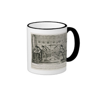 French printing press, 1642 (engraving) ringer mug
